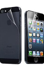 3x klart fram- och bakskärmskydd för iphone 5 iphone se / 5s / 5c / 5 skärmskydd