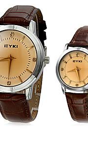 Homens Mulheres Casal Quartzo Quartzo Japonês Relógio de Moda Venda imperdível Banda Amuleto Preta Marrom
