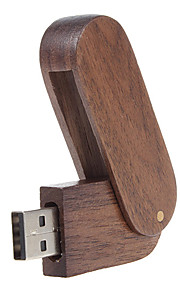 8GB usb flash drive usb disk USB 2.0 Wooden Rotating Compact Size
