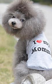 Katze Hund T-shirt Hundekleidung Herz Grau Baumwolle Kostüm Für Haustiere Herrn Damen Niedlich Lässig/Alltäglich Geburtstag