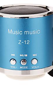 Z-12 휴대용 스피커 실버 퍼플 레드 블루 핑크
