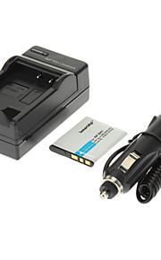 ismartdigi 630mAh camera batterij + Car Charger voor SONY W630 W570 W350 WX100 WX150