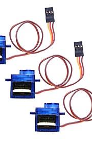 Mini 9G Servo con Accessori - blu traslucido (3PCS)
