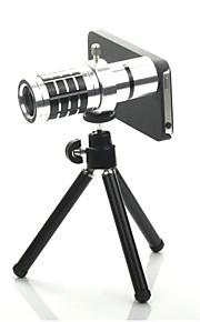 아이폰 5에 대한 12 배 분리 망원 렌즈 세트 - 실버