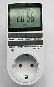Timer Plug in Programable Timer Switch 24h 7 Day Week Digital LCD Display for EU