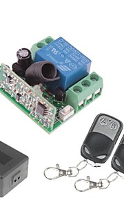 12V 1-Channel Wireless Remote Power Relay Module with Double Remote Controller (DC28V-AC250V)