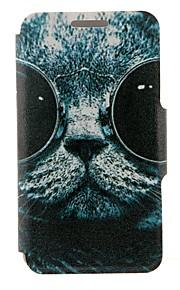 용 노키아 케이스 카드 홀더 / 플립 케이스 풀 바디 케이스 고양이 하드 인조 가죽 Nokia Nokia Lumia 630 / Nokia Lumia 625