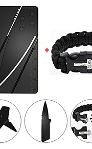 Survival Gear Paracord Brecelet Magnesium Stone Flint Fire Starter Whistle Buckles with Credit Card Wallet Self Defense