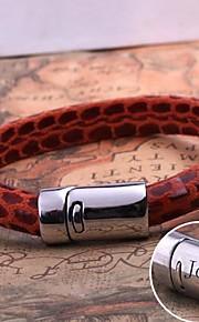 spersonalizowany prezent pasek ze skóry liny biżuteria ze stali nierdzewnej grawerowane