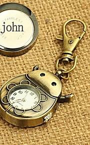 Zegarek spersonalizowane stopu prezent wygrawerowane kluczową klamrę