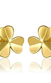Damskie Kolczyki na sztyft Z pudełkiem Modny Słodkie Stop Kwiat Biżuteria Ślub Codzienny Biżuteria kostiumowa