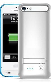 Ifans ® MFI 2400mAh iphone5s batterikasse ekstern aftagelig backup magt oplader taske til iphone5 / 5s (assorterede farver)