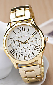Mulheres Quartzo Relógio Casual Aço Inoxidável Banda Amuleto Dourada