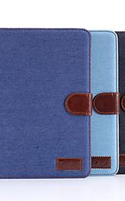 Maska Pentru iPad Mini 3/2/1 Cu Stand Auto Sleep / Wake Magnetic Carcasă Telefon Culoare solidă textil pentru iPad Mini 3/2/1