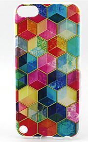 caso macio do tpu do teste padrão da pintura do diamante para ipod touch 5 casos / capas de ipod
