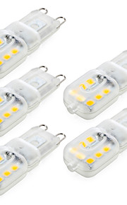 YWXLIGHT® 5pcs Dimmable G9 4W 300-400 lm LED Bi-pin Lights 14 leds SMD 2835 Warm White Cold White Natural White AC 220V AC 110V