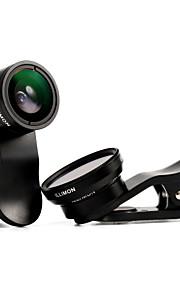 illimon® lente telefone m18 m12 + 100 ° grande angular + 10 × lente macro + CPL / 175 ° fisheye + 13 × conjunto macro