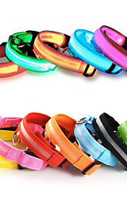 Cat Dog Necklace Dog Clothes LED Solid Yellow Red Green Blue Pink Costume For Pets