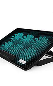 ergonómica seis ventiladores de enfriamiento del cojín más fresco ajustable con el sostenedor del soporte portátil PC portátil