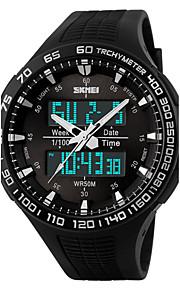 Men's   Watch/ Calendar / Chronograph / Dual Time Zones / Alarm / Noctilucent / Analog-Digital Wrist watch