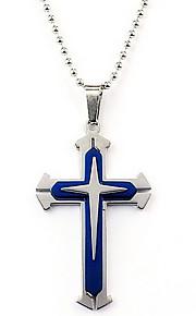 Herre Vedhæng Kors Rustfrit Stål Metal Mode Smykker Til Hverdag