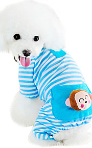 Katze Hund Overall Pyjamas Hundekleidung Cartoon Design Gelb Blau Rosa Baumwolle Kostüm Für Haustiere Herrn Damen Niedlich