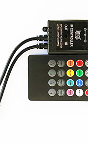 zdm® 20 nøkkel 70W infrarød musikk førte kontroller for LED RGB stripe lys (dc12-24v)