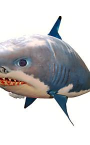 RC Shark التحكم عن بعد الحيوان القرش الطائر سمكة المهرج قابل للاشتعال حركة واقعية السباح الهواء نايلون 1 pcs للجنسين ألعاب هدية / CE