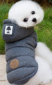 Hund Mäntel Kapuzenshirts Hundekleidung Solide Grau Blau Baumwolle Kostüm Für Haustiere Herrn Damen warm halten Modisch