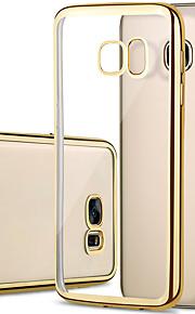 fodral Till Samsung Galaxy Samsung Galaxy S7 Edge Plätering Genomskinlig Skal Ensfärgat TPU för S7 edge S7 S6 edge S6