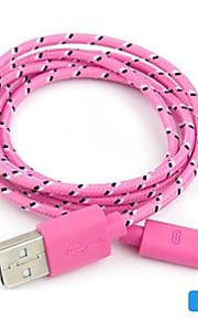 Micro USB 2.0 USBケーブルアダプタ 編み ケーブル 用途 Huawei LG Nokia Lenovo Xiaomi Motorola HTC Sony 100 cm PVC