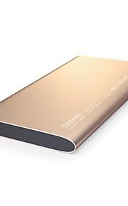 powerbank externe batterij 5vv 2.4a #a batterijlader multi-output qc 2.0 super slanke led