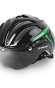 バイクヘルメット サイクリング 11 通気孔 調整可 バイザー付き マウンテン 都市 フルフェイス 超軽量(UL) 青少年 マウンテンサイクリング ロードバイク レクリエーションサイクリング サイクリング