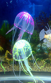 Akváriumdíszek Medúza Díszítések Állítható Mesterséges Nem mérgező és íz nélküli Csendes Szilikon