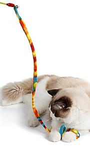 Brinquedo Para Gato Brinquedos para Animais Interativo Brinquedo de Provocação Dobrável Corda Bastão Gato Tecido Para animais de estimação