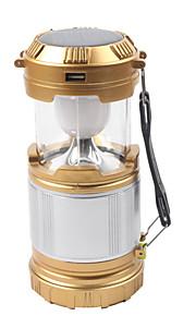 פנסים ותאורה לאוהל LED 850 lm 1 מצב תאורה עם מטען עמיד במים / נטענת / חירום מחנאות / צעידות / טיולי מערות / שימוש יומיומי / רכיבה על אופניים זהב / שחור