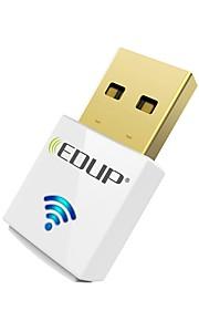 Edup usb wirelss wifi adapter 600mbps dual band 11ac mini trådløst netværkskort dongle ep-ac1619