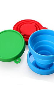 Canecas de Viagem / copo Dobrável Talheres e Copos de Viagem para Dobrável Talheres e Copos de Viagem Vermelho Verde Azul