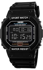 SKMEI Homens Digital Relogio digital Relógio Esportivo Calendário Impermeável Cronômetro PU Banda Amuleto Preta