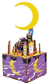 Quebra-Cabeças de Madeira Brinquedos Construções Famosas MOON Desenho Faça Você Mesmo Crianças Peças
