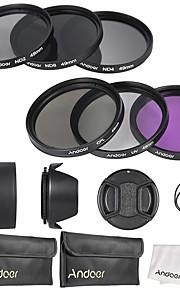 Andoer 49mm objektivfilter kit uv cpl fld nd (nd2 nd4 nd8)