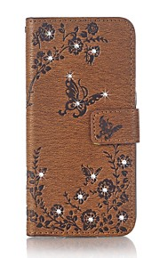 Per il rhinestone del portafoglio del supporto della carta del coperchio del caso con il rilievo del basamento rilievo del corpo pieno