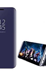 Etui Käyttötarkoitus Samsung Galaxy S8 Plus S8 Tuella Pinnoitus Peili Flip Automaattinen uni/herätystila Suojakuori Yhtenäinen väri Kova