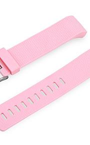 Pulseira de elastômero de substituição para carga de fitbit 2 -pink