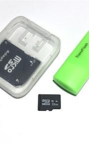 32gb microsdhc tf hukommelseskort med usb kortlæser og sdhc sd adapter