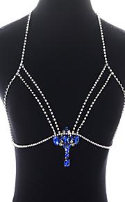 Dame Pige Kropssmykker Krops Kæde / mavekædeMode Yndig Personaliseret luksus smykker Statement-smykker minimalistisk stil Åben Bling