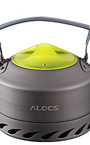 ALOCS Camping Kettle Camping Coffee Pot Coffee and Tea Portable Mineral Aluminum for Picnic Camping & Hiking Outdoor
