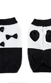 Kissa Koira Neulepaidat Koiran vaatteet Rusetti Valkoinen/musta Chinlon Asu Lemmikit Rento/arki Pidä Lämmin