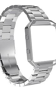 Faixas de areias de fósforo com metal frameaustrake Fitas de substituição de aço inoxidável com moldura para fitbit blaze relógio de