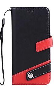Custodia Per Samsung Galaxy S8 Plus S8 A portafoglio Porta-carte di credito Con supporto Integrale Tinta unica Resistente Similpelle per